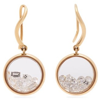 Aurélie Bidermann Fine Jewellery Aurelie Bidermann Fine Jewellery - Chivor 18kt Gold & Diamond Earrings - Gold