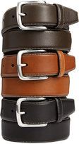 Cole Haan Burnished Edge Leather Belt