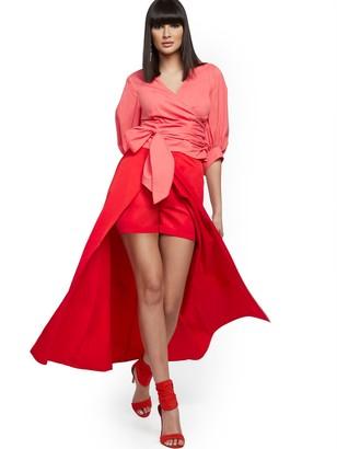New York & Co. Skirt-Overlap Short