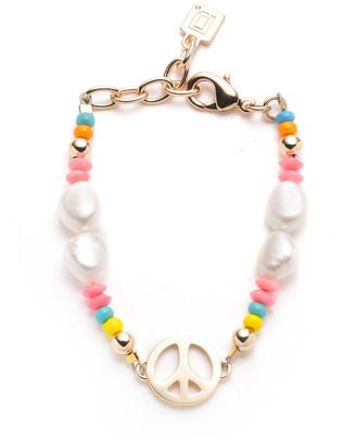Dannijo Garcia Bead and Pearl Peace Bracelet