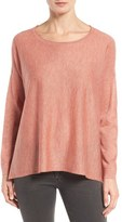 Eileen Fisher Tencel ® Lyocell Blend Ballet Neck Top (Regular & Petite)