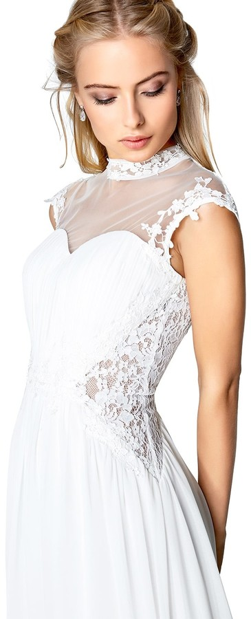 Little Mistress Ivory Applique Bridal Dress