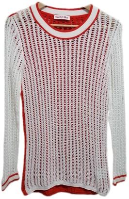 See by Chloe Orange Cotton Knitwear