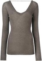 Brunello Cucinelli wide neck jumper - women - Polyamide/Polyester/Cupro/Wool - S