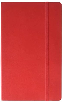 Moleskine Classic Ruled Large Soft Notebook (Scarlet Red) Wallet