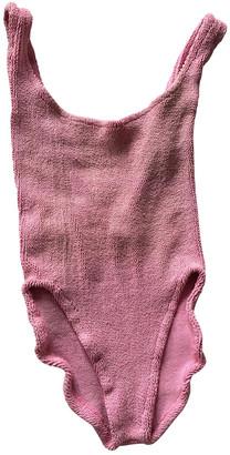 Hunza G Pink Lycra Swimwear