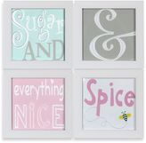 Bed Bath & Beyond Sugar & Spice Stitched Nursery Prints Framed Art (Set of 4)
