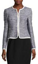 Karl Lagerfeld Roundneck Tweed Jacket