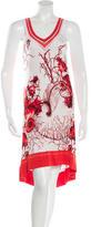 Roberto Cavalli Shell Print Midi Dress