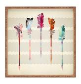 DENY Designs Iveta Abolina Feathered Arrows Square Tray
