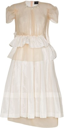 Simone Rocha Chloe deconstructed midi dress