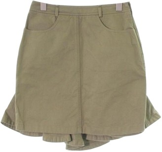 Alexander McQueen Green Cotton Skirt for Women