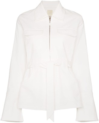 Usisi Sister Emilie zip-up tie waist jacket