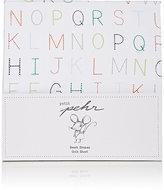 PetitPehr Alphabet-Print Cotton Crib Sheet
