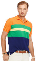 Polo Ralph Lauren Big & Tall Custom-Fit Color-Blocked Mesh Polo Shirt