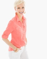 Chico's Cotton Voile Shirt in Party Punch