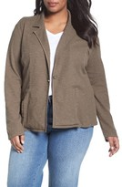 Plus Size Women's Caslon One-Button Knit Blazer