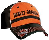 Harley-Davidson Mens Baseball Cap, Embroidered HD Script, & Orange BC51664