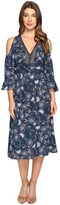 Brigitte Bailey Tressa Cold Shoulder Dress with Lace Inset Women's Dress