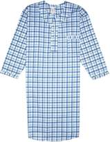 Comfort Zone Men's Comfortable Cotton/Poly Back Snap Nightshirt Gown Long Sleeve Size XXL
