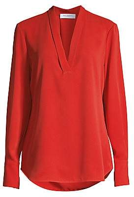 Equipment Women's Charlina Plunging Silk Blouse