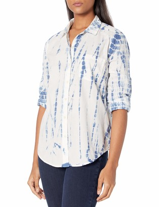 Lucky Brand Women's Long Sleeve Classic One Pocket Button Front Shirt