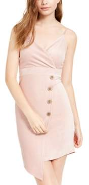Almost Famous Juniors' Corduroy Surplice Wrap Dress