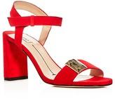 Furla Metropolis Ankle Strap Block Heel Sandals