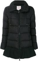 Moncler wool trim puffer jacket