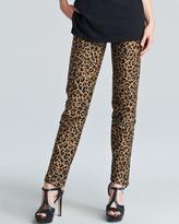 3.1 Phillip Lim Leopard-Print Cropped Pencil Trousers