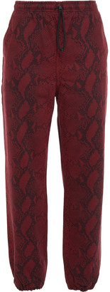 Alexander Wang Snake-print High-rise Tapered Jeans