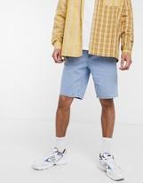 Asos Design DESIGN slim denim shorts light stone wash