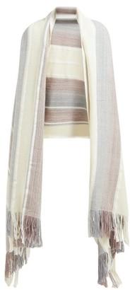 Wehve - Pure Wool Blanket Scarf - Womens - White