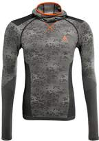Odlo Evolution Warm Undershirt Black/odlo Concrete Grey/orange