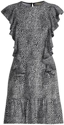 MICHAEL Michael Kors Combination Snake-Print Dress