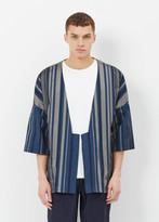 Curieux blue & silver core kimono