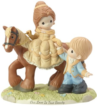 Precious Moments Disney Ltd Ed Belle And Prince Adam Figurine