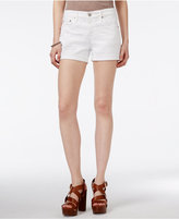 AG Jeans Cuffed White Wash Denim Shorts