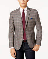 Nick Graham Men's Slim-Fit Tan Plaid Jacket