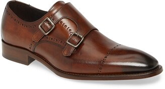 Johnston & Murphy Reece Cap Toe Double Monk Strap Shoe