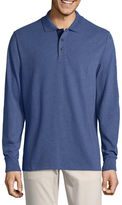 ST. JOHN'S BAY St. John's Bay Long Sleeve Jersey Polo Shirt