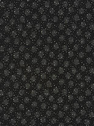 Kokka Textured Circles Print Fabric, Black