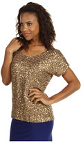 MICHAEL Michael Kors Solid Viscose Sequin Dolman Top