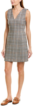 Theory Autumn Plaid Wool-Blend Sheath Dress
