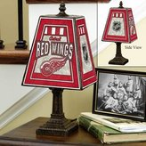 The Memory Company Detroit Red Wings Art Glass Table Lamp