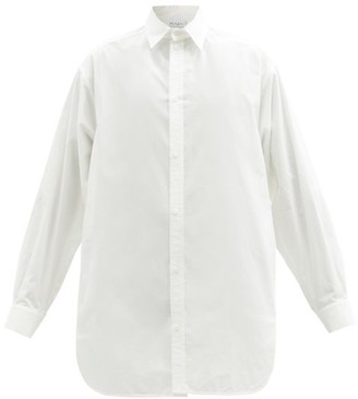 Raey Oversized Dropped-shoulder Cotton-blend Shirt - Womens - White