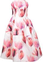 Christian Siriano strapless floral gown