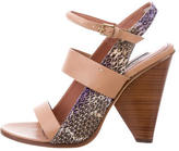 Derek Lam Python-Trimmed Multistrap Sandals