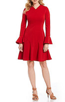 Maggy London Ponte Fit And Flare Dress