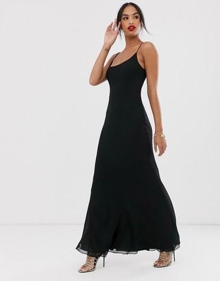 Asos Design DESIGN floaty cami maxi dress-Black